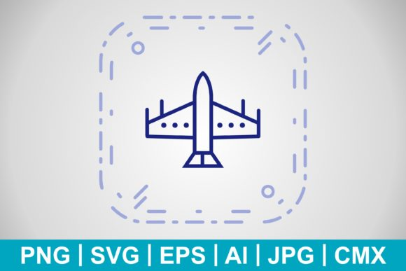 Print on Demand: Vector Fighter Jet Icon Graphic Icons By IYIKON