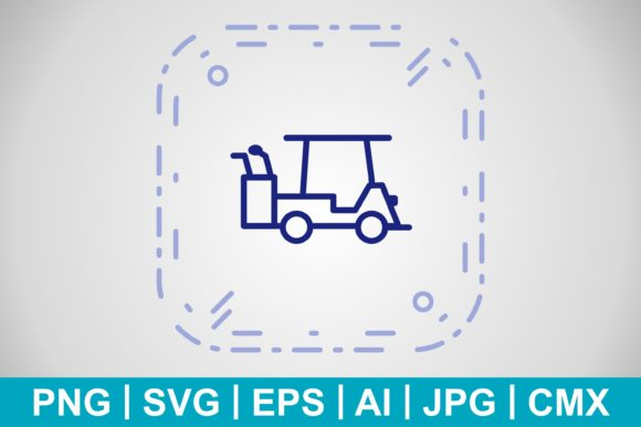 Print on Demand: Vector Golf Cart Icon Graphic Icons By IYIKON