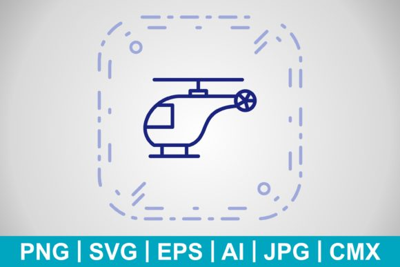 Print on Demand: Vector Helicopter Icon Graphic Icons By IYIKON