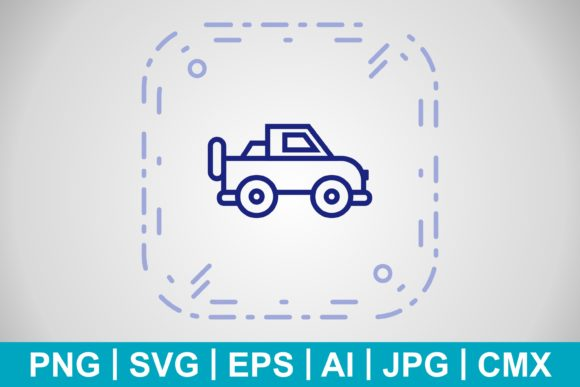 Print on Demand: Vector Jeep Icon Graphic Icons By IYIKON