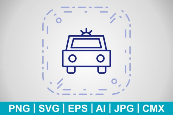Print on Demand: Vector Police Car Icon Graphic Icons By IYIKON