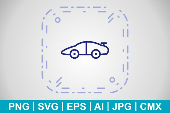 Print on Demand: Vector Sports Car Icon Graphic Icons By IYIKON