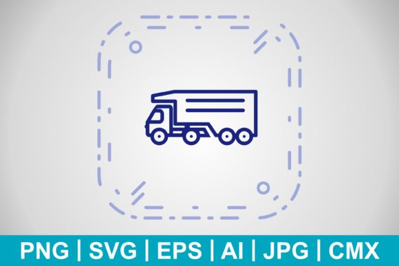 Print on Demand: Vector Tipper Truck Icon Graphic Icons By IYIKON