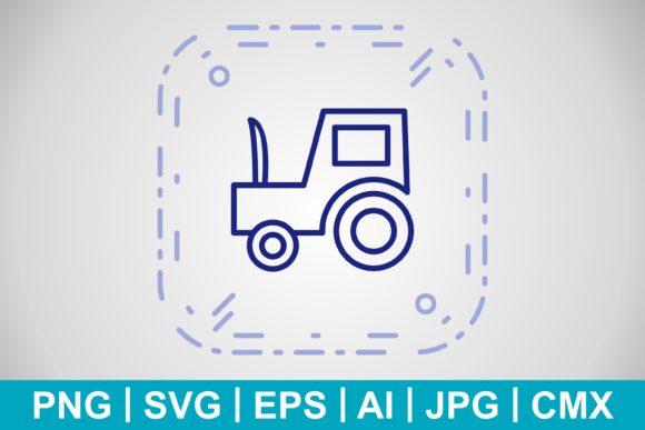 Print on Demand: Vector Tractor Icon Graphic Icons By IYIKON