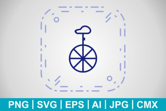 Print on Demand: Vector Unicycle Icon Graphic Icons By IYIKON