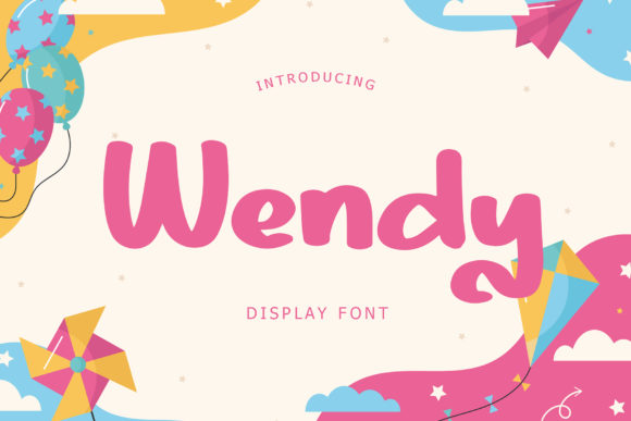 Print on Demand: Wendy Display Font By Giant Design