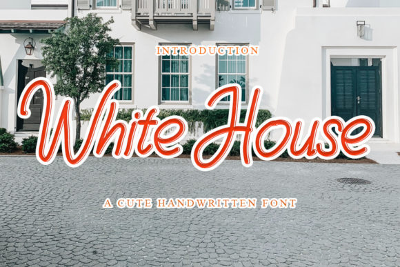 Print on Demand: White House Script & Handwritten Font By mizanstudio