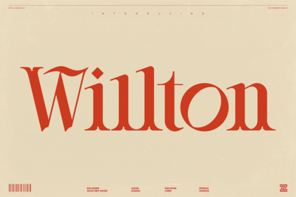 Print on Demand: Willton Display Font By zealab fonts division