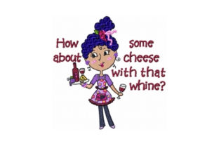 Wine Toodle Wine & Drinks Embroidery Design By Sew Terific Designs