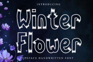 Print on Demand: Winter Flower Display Font By giartstudios
