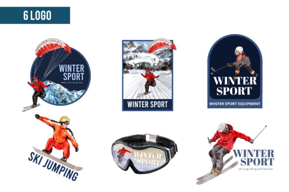Winter Sports Watercolor Graphic Preview