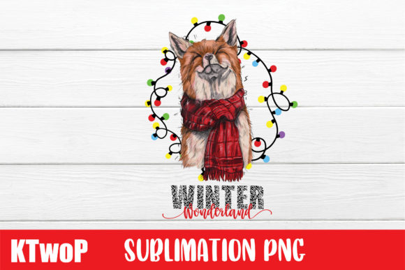 Print on Demand: Winter Wonderland Sublimation Fox Graphic Illustrations By KtwoP