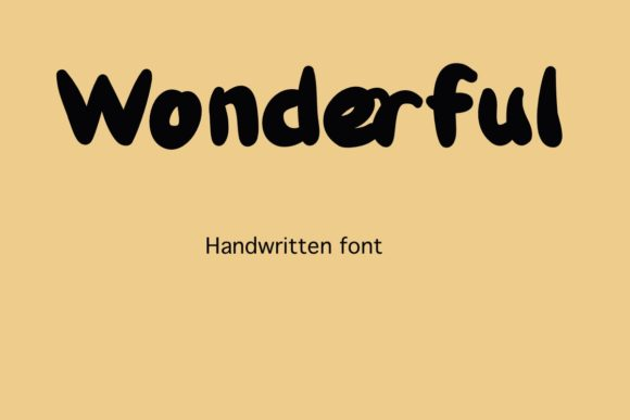Print on Demand: Wonderful Script & Handwritten Font By Temtemdesign