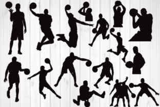 Print on Demand: Basketball Player Silhouette Graphic Crafts By rayan