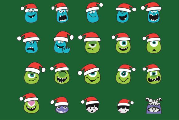 Print on Demand: Christmas Monster Graphic Illustrations By bentestudio