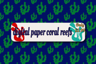 Digital Paper Coral Reefs Graphic Backgrounds By Rizky Creative