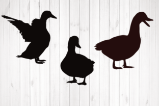 Print on Demand: Ducks Silhouette Graphic Illustrations By rayan