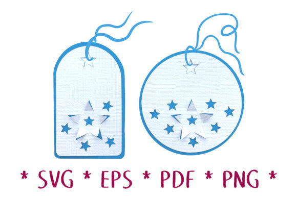 Print on Demand: 3D Star Gift Tags SVG Cut File Graphic 3D SVG By Nic Squirrell