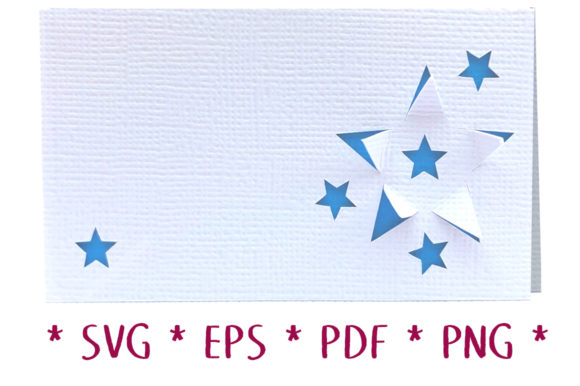 3D Star Place Card Graphic 3D SVG By Nic Squirrell