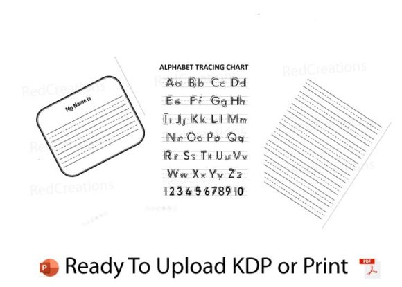 ABC Handwriting Workbook, KDP Interior Graphic KDP Interiors By RedCreations