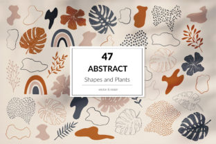 Print on Demand: Abstract Shapes and Plants Graphic Objects By northseastudio