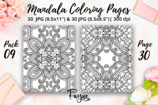 Print on Demand: Adult Coloring Pages | Mandalas Pack 09 Graphic Coloring Pages & Books Adults By Fayne