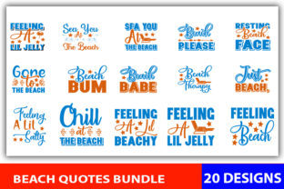 Print on Demand: Beach Quotes Designs Bundle Graphic Print Templates By CreativeArt