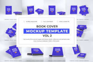 Print on Demand: Book Cover Mockup Template Bundle Vol 2 Graphic Product Mockups By dendysign