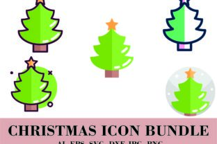 Bundle Decoration of Christmas Tree Graphic Icons By themagicboxart