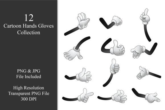 Cartoon Hand Gloves Bundle Graphic Illustrations By zhyecarther