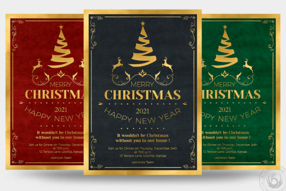 Christmas Invitation Template V1 Graphic Print Templates By ThatsDesignStore