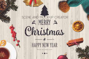 Print on Demand: Christmas Scene and Mock-up Creator Graphic Scene Generators By Relineo