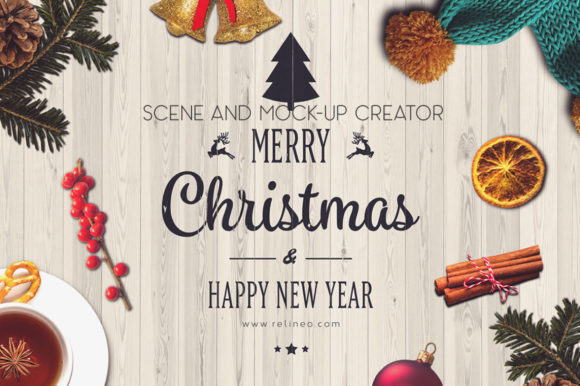 Christmas Scene and Mock-up Creator Graphic Scene Generators By Relineo