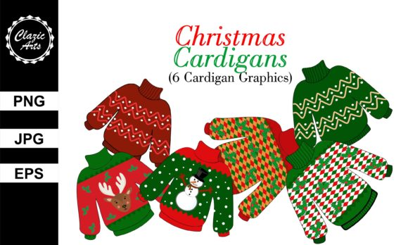 Print on Demand: Christmas Sweater Graphic Illustrations By ClazicArts