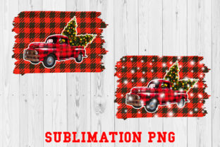 Christmas Truck Sublimation Snow PNG Graphic Illustrations By Ten Times Studio