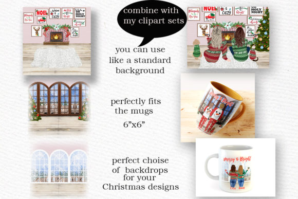 Christmas Backgrounds Winter Scenes Graphic Item