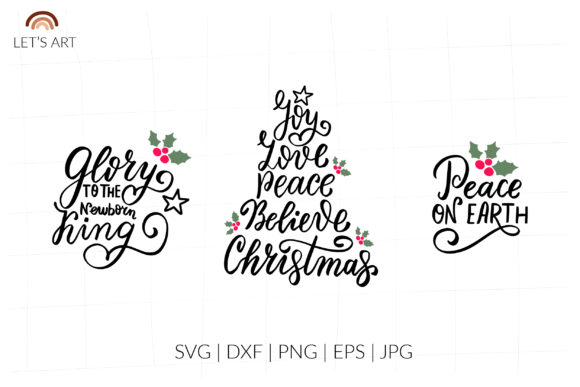 Christmas Religion Wishes Quotes Svg Graphic Illustrations By cyrilliclettering