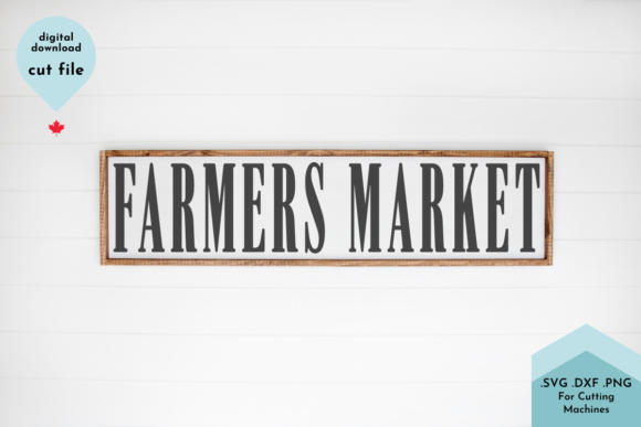 Print on Demand: Farmers Market Svg Graphic Crafts By Lettershapes