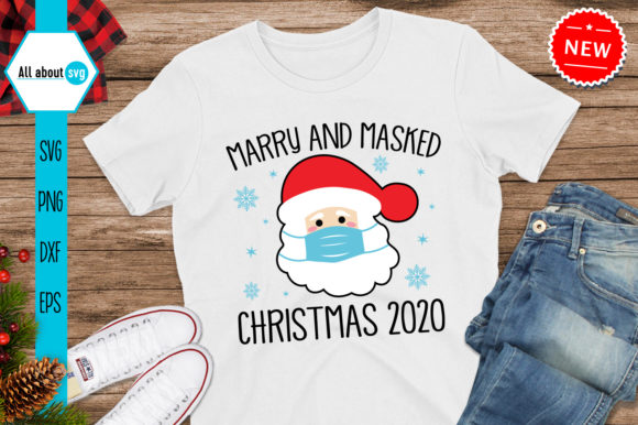 Merry and Masked Christmas 2020 Svg Graphic Crafts By All About Svg