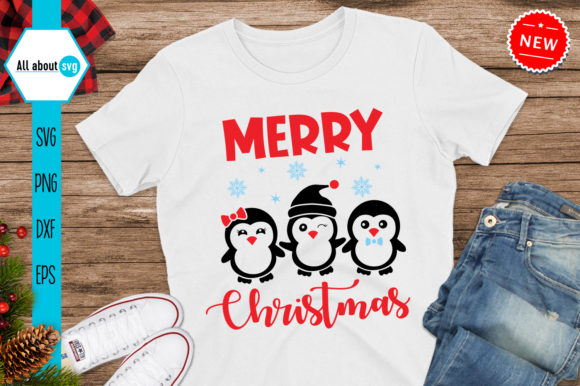 Merry Christmas Penguins Svg Graphic Crafts By All About Svg