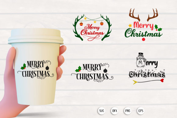 Print on Demand: Merry Christmas SVG Cut File Graphic Crafts By SmmrDesign