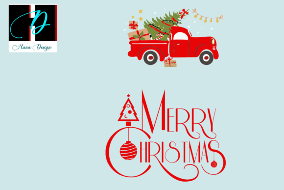 Print on Demand: Merry Christmas Gift Vector Clipart Graphic Print Templates By Hana Design