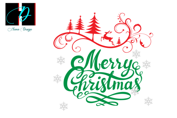 Print on Demand: Merry Christmas Vector Clipart Graphic Illustrations By Hana Design