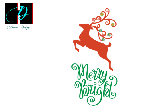 Print on Demand: Merry and Bright Christmas Cut Files Graphic Print Templates By Hana Design