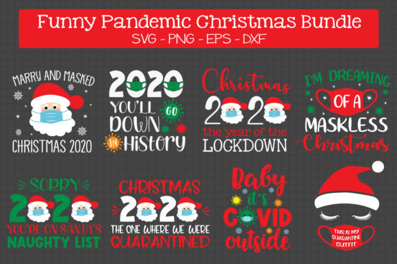 Pandemic Christmas Bundle Svg Grafik Plotterdateien von All About Svg
