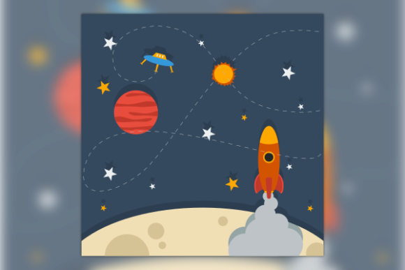 Paper Style Outer Space Illustration Graphic Illustrations By faqeeh