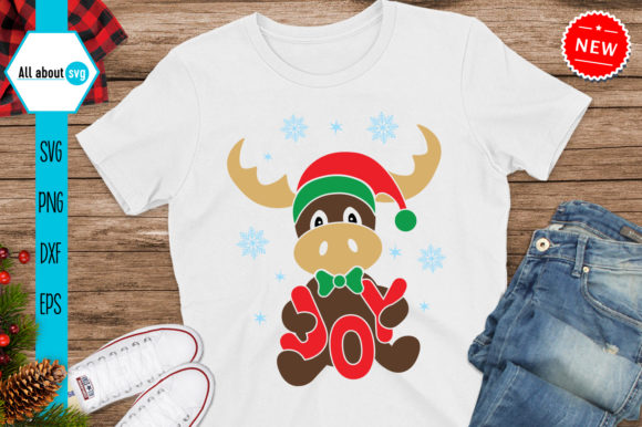 Reindeer Joy Svg, Christmas Reindeer Svg Graphic Crafts By All About Svg
