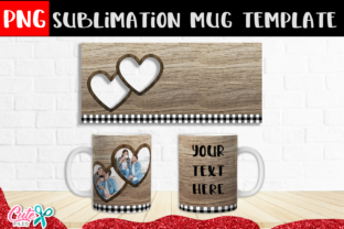 Rustic Couple Hearts Frames Sublimation Graphic Print Templates By Cute files