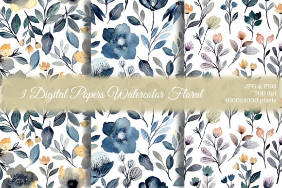 Print on Demand: Seamless Pattern Floral Watercolor 27 Graphic Patterns By asrulaqroni