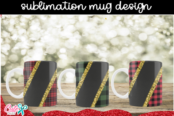 Sublimation Mug Design Buffalo Plaid Graphic Print Templates By Cute files